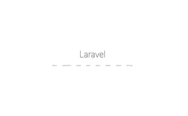 Páctalla inicial de Laravel