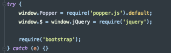 Configuración archivo bootstrap.js