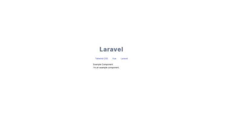 Pantalla configuración final Laravel